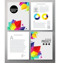 Colorful geometric template for a company project vector