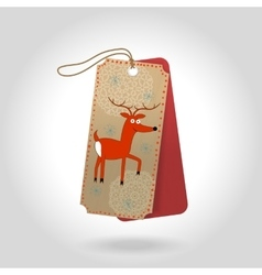 Cute christmas gift tags with cheerful red vector