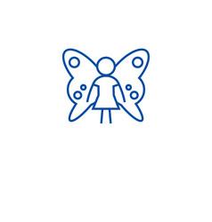 cute fairy line icon concept cute fairy flat vector image