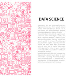 data science line pattern concept vector image