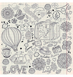 Decorative Doodle Background vector image
