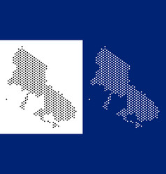 Dotted skyros greek island map vector