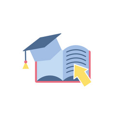 Ebook school education learning flat style vector