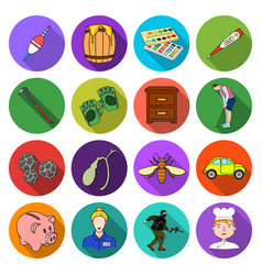 ecreation entertainment artand other web icon in vector image