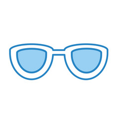 eye glasses isolated icon vector image
