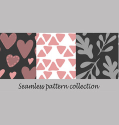 floral seamless background set vector image