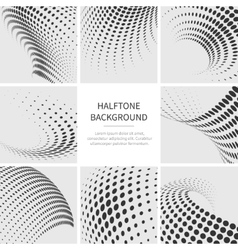 Grunge halftone dotted abstract backgrounds vector image