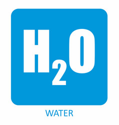 H2o chemical formula icon vector