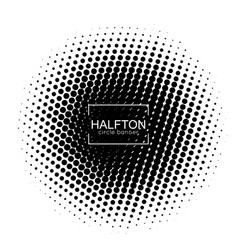 halftone round banner vector image
