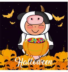 Halloween kid cartoon vector