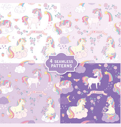 hand drawn seamless pattern with cute vector image