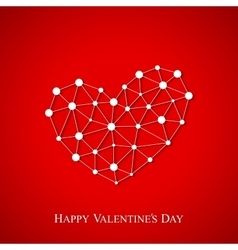 Happy Valentines Day Connected lines with dots vector