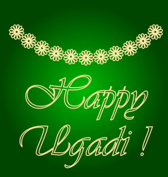 Icons of garlands of flowers holiday ugadi vector