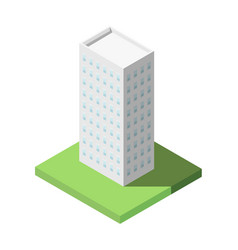 isometric of modern office tall building for icon vector image