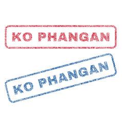 ko phangan textile stamps vector image