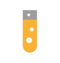 Laboratory tube test icon vector