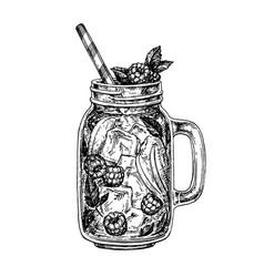 Lemonade ink sketch vector