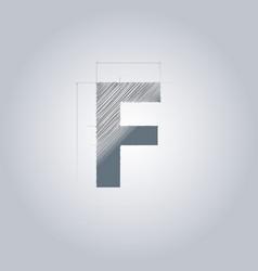 Letter f logo alphabet logotype architectural vector