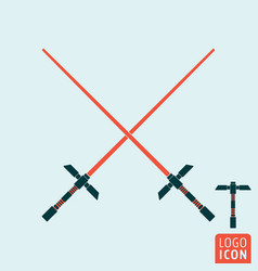 Light sword icon vector