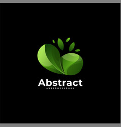 logo abstract leaves gradient colorful style vector image