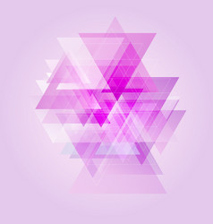low poly abstract design vector image