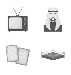 Magic television and other monochrome icon in vector