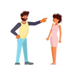 Man and woman quarrelling vector