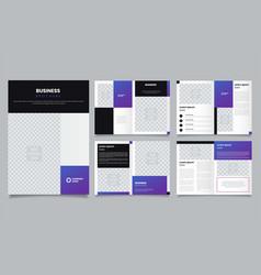 minimalist purple brochure layout template vector image