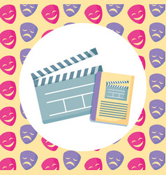 movie clapboard design vector image
