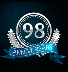 ninety eight years anniversary celebration design vector image