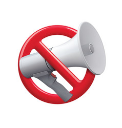 no audio icon sign no noise icon realistic 3d vector image