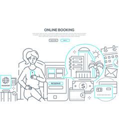 online booking - modern line design style web vector image