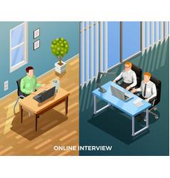 Online job talk composition vector
