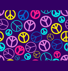 peace sign seamless pattern the international vector image
