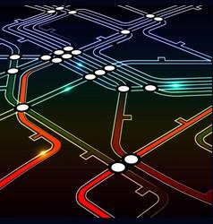 Perspective background metro scheme vector