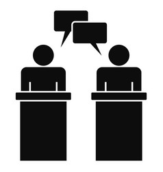 political debate icon simple style vector image