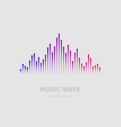 Poster sound wave from equalizer vector