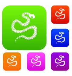 Python snake set color collection vector