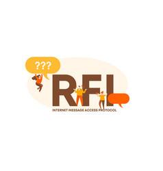 Rfi internet message access protocol user data vector