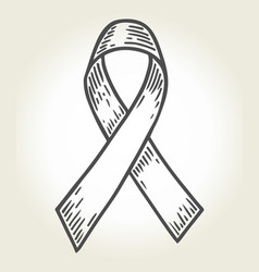 ribbon black white vector image