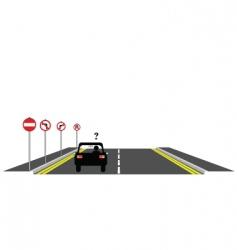 road confusion vector image