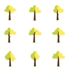Set of tree object decoration vector