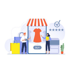 shopping concept people buying vector image