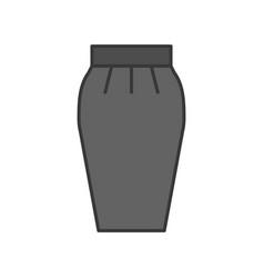 skirt filled color outline editable stroke vector image