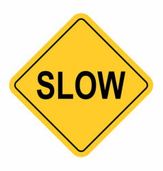Slow traffic sign vector