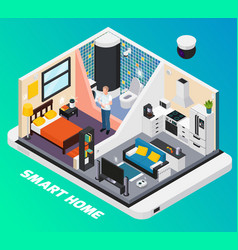 smart home isometric composition vector image