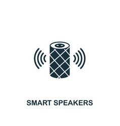Smart speakers icon creative element design from vector