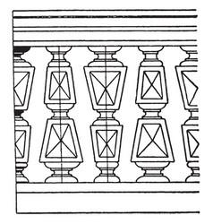 square plan baluster an italian renaissance vector image