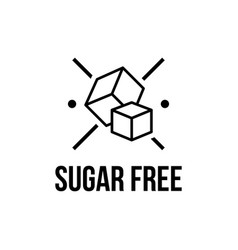 Sugar free foods icon black and white designs can vector
