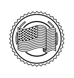Symbol american flag sign icon vector